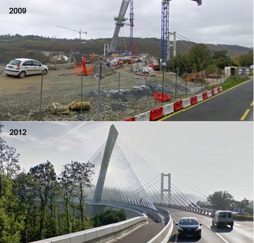 Reconstruction du pont de Térénez